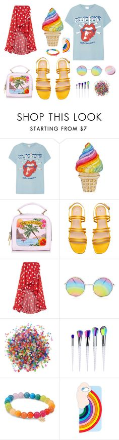 """Rainbow, not pride"" by linda-lanka ❤ liked on Polyvore featuring MadeWorn, Caroline Constas, Dress My Cupcake, Sydney Evan, Miss Selfridge, rainbow and colorful"