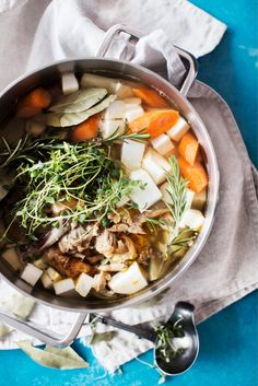 Great chicken broth recipe! (Note: recipe is in finnish)