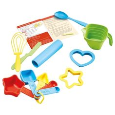 Amazon.com: Green Toys Bake by Shape Role Play Set Toy, Assorted Colors: Toys & Games