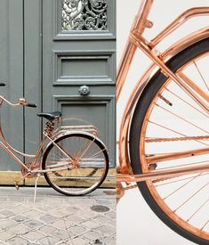 What's that? You love copper so much you want to ride it? You're in luck. Van Heesch's copper bike is now for sale via Anthropologie. It even includes a copper chain lock and copper bell (plus handling gloves, naturally).