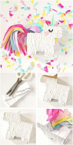 cool DIY Mini Unicorn Pinata with Free Printable Template