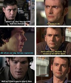 Sam keeping the happy going - Superwholock