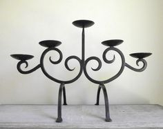 "vintageandmain: "" Wrought Iron Candle Holder 