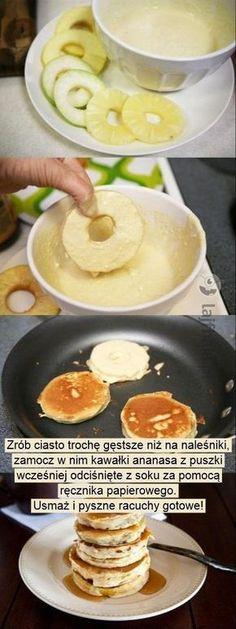 Zobacz jak zrobić ananasowe racuchy na śniadanie...