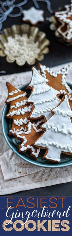 Easiest gingerbread cookies - a foolproof recipe that requires no chilling.