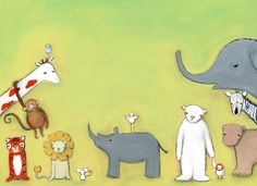 zoo babies  17 x 11 print by Marisa and by creativethursday, $75.00
