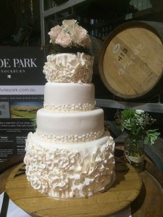 4 tier wedding cake, amazing piece of art by our kitchen team at Clyde Park