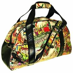 Some gym goers are geeks too-this Marvel Gym bag is perfect to show your true passion for Marvel Comics. Patterns vary, so no 2 are alike
