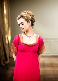 Lily James as Natasha Rostova in War and Peace (TV Mini-Series, 2016) #CostumeDesign Edward Gibbon