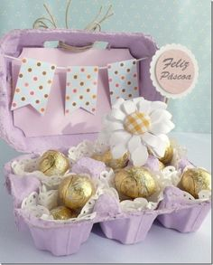 30 Fantastic Easter Gifts for Adults - Get Creative with Some Easter Crafts for Adults Hoppy Easter, Easter Eggs, Easter Table, Easter Gift For Adults, Egg Carton Crafts, Easter Projects, Easter Treats, Easter Party, Sizzix Dies