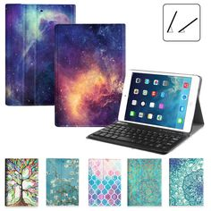 For iPad mini 4 3 2 1 SlimShell Case Stand Cover  Wireless Bluetooth Keyboard