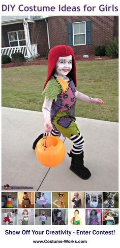 DIY Costumes for Girls - a lot of homemade costume ideas!
