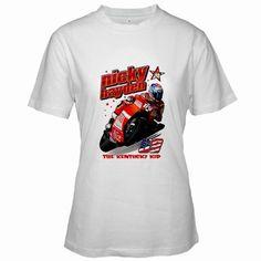 NICKY HAYDEN #69 T-Shirt The Kentucky Kid MotoGP shirt Women Short Sleeve S - XL
