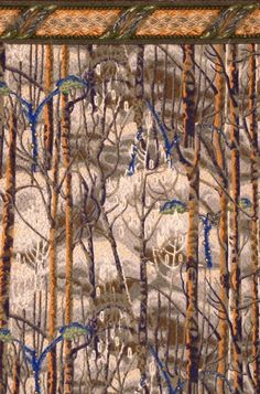 Charles E. Burchfield (1893-1967), The Birches with Border, 1921; wallpaper, 25 x 17 1/2 inches
