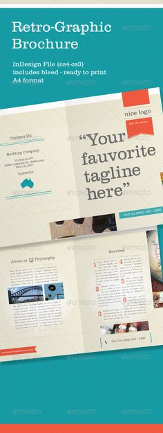 8Pp A5 Brochure - Indesign & Photoshop Templates | Brochures