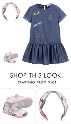 """Baby girl in Fendi clothes"" by youngx ❤ liked on Polyvore featuring Fendi"
