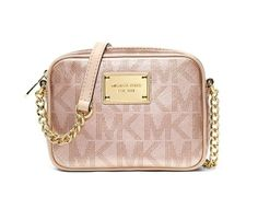 MICHAEL Michael Kors Handbag, Signature Metallic Crossbody $95.99
