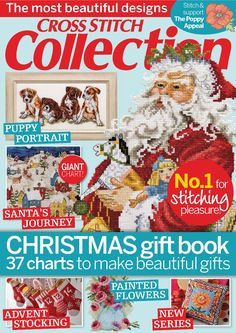 Cross-Stitch Magazines - This is a paid service Xmas Cross Stitch, Cross Stitch Books, Cross Stitch Kits, Cross Stitch Charts, Cross Stitching, Cross Stitch Embroidery, Cross Stitch Patterns, Noel Christmas, Christmas Books