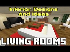 Modern Living Room Minecraft minecraft: how to make an awesome living room design | minecraft