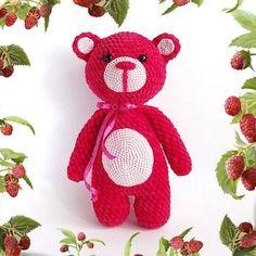 Медвежонок Малинка амигуруми #амигуруми #схемыамигуруми #игрушкикрючком #amigurumipattern