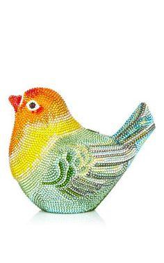 Love bird clutch by JUDITH LEIBER Preorder Now on Moda Operandi