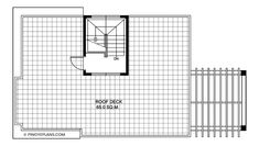 Antonio Model is a four bedroom modern home plan with roof deck having a total floor area of 188 sq. roof deck not included. The roof deck is 65 sq. Modern House Floor Plans, Modern Bungalow House, Duplex House Plans, Best House Plans, House Design Pictures, Small House Design, Modern House Design, Online Architecture, Architecture Magazines