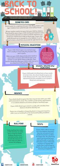 Back to school #infographics #health #diabetesl