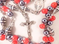 TAMPA BAY BUCCANEERS NFL FOOTBALL ROSARY FROM ROSARYCREATIONS.COM