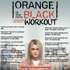 "Hiit our ""Orange Is The New Black"" Workout!"