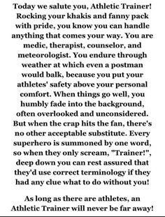 47 Ideas Athletic Training Quotes Awesome For 2019 Leg Training, Weight Training Workouts, Training Plan, Fun Workouts, Medicine Humor, Medicine Notes, Sports Medicine, Strength Training Program, Fitness Facts
