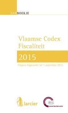 Vlaamse codex fiscaliteit 2015