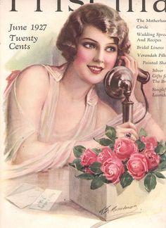 1927 Priscilla magazine cover art
