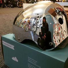 Bobbin Chrome Metallic Bike Helmet Shiny Shiny!