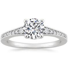 18K White Gold Lucia Diamond Ring, top view