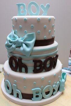 Craft it! Craft it! Baby Boy cake » Baby shower cake! Cute!