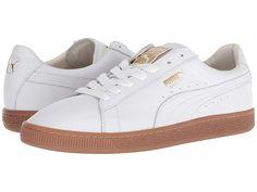 49210549024 PUMA Basket Classic Gum Deluxe (Puma White Metallic Gold) Men s Shoes. Keep