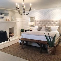 Have you guys seen the awesome faux fiddle Fig from @worldmarket? I want it to go in that left corner by the bed, but I...