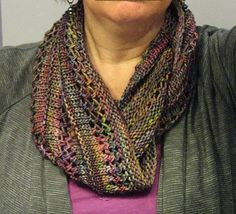 A Grey Loop by Helen G. malabrigo Arroyo, Arco Iris colorway.This is so pretty.Wish I knew how to knit.