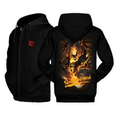 Dota 2 hero Shadow Fiend black hoodie for teens