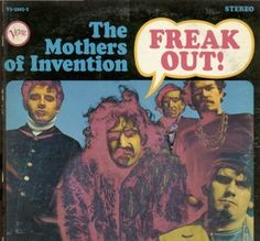 Frank Zappa & The Mothers of Invention: Freak Out! A list of all the groups that have released album covers that look like the Frank Zappa & The Mothers of Invention Freak Out! Frank Zappa, Lps, Rock Album Covers, Classic Album Covers, Vinyl Lp, Vinyl Records, Vinyl Room, Rare Vinyl, Carol Kaye