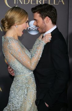 Lily James and Richard Madden hit the red carpet at Disney's premiere of Cinderella!