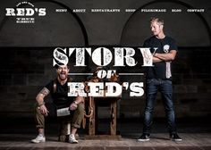 Red's True Barbecue features great use of type to create an masculine yet playful feel.