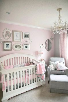 Baby Girl Nursery * So many things I love about this room!!..... I love the pictures behind the crib.... Maybe over the diaper changer?