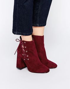 ASOS ENIGMA Lace Up Ankle Boots