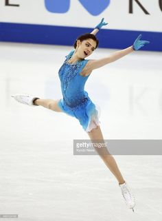 News Photo : Russian Evgenia Medvedeva performs in the women's...