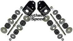 NEW 55-57 CHEVY FRONT ENGINE MOUNT KIT WITH BRACKETS FOR SBC V-8 ENGINES, BLACK POWDER COATED, INCLUDES SHAFTS & RUBBERS, 1955 1956 1957 TRI-5 150 210 BEL AIR DELRAY NOMAD SEDAN, SMALL BLOCK CHEVY