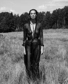 Daria Werbowy by Mikael Janson for Interview magazine, 2014 / Styled by Karl Templer