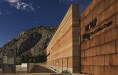 "Nkmip Desert Cultural Centre in Osoyoos, BC. A beautiful ""rammed"" earth wall."