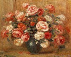 Pierre Auguste Renoir - Rosenstilleben