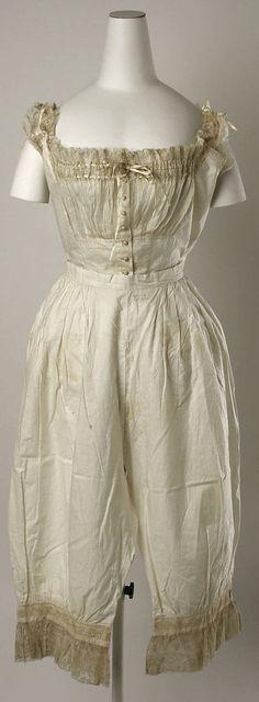 Wedding Lingerie (American), Met Museum, ca. 1880    Tantalizing!